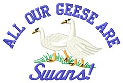 Our Geese embroidery design