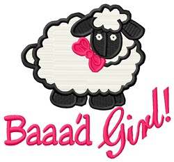 Baaad Girl embroidery design