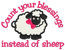 Count Blessings embroidery design