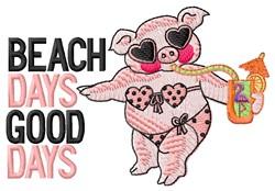 Beach Days embroidery design