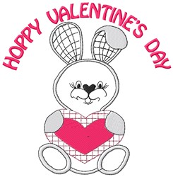 Hoppy Valentines embroidery design