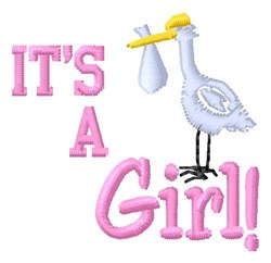 Its A Girl embroidery design