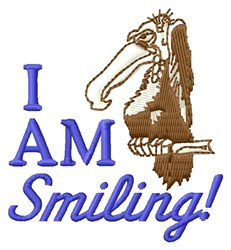 I Am Smiling embroidery design