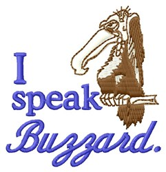 I Speak Buzzard embroidery design