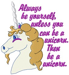 Be Yourself embroidery design