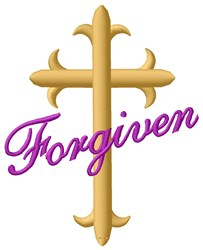 Forgiven embroidery design