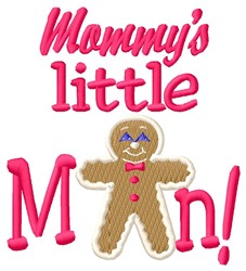 Mommys Man embroidery design