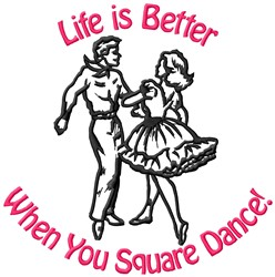 Dance Better embroidery design