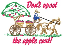 Upset Apple Cart embroidery design