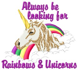 Rainbows & Unicorns embroidery design