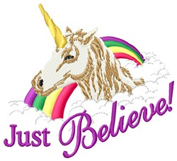 Just Believe embroidery design