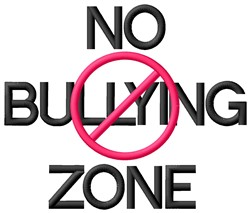 No Bullying embroidery design