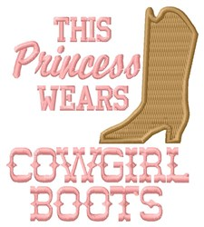 Cowgirl Princess embroidery design