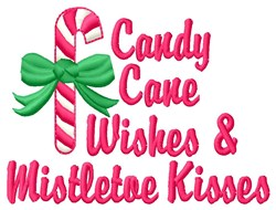 Candy Cane Wishes embroidery design