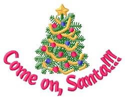 Come On Santa embroidery design