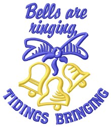 Tidings Bringing embroidery design