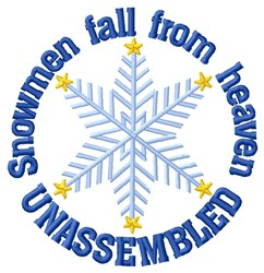Unassembled Snowmen embroidery design