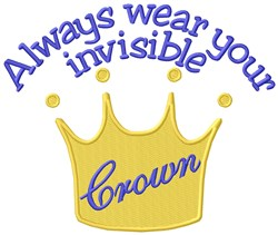 Invisible Crown embroidery design