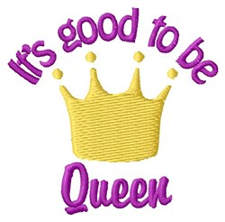 Be Queen embroidery design