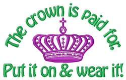 Put On Crown embroidery design