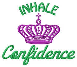 Inhale Confidence embroidery design