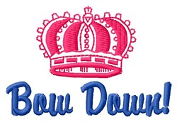 Bow Down embroidery design