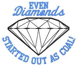Coal Diamonds embroidery design