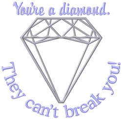 Youre A Diamond embroidery design