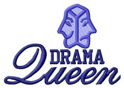 Drama Queen embroidery design