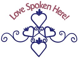 Love Spoken embroidery design