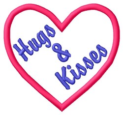 Hugs & Kisses embroidery design