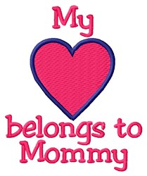 Mommy Heart embroidery design