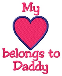 Daddy Heart embroidery design