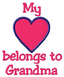 Grandma Heart embroidery design