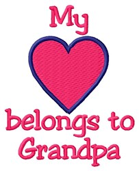 Grandpa Heart embroidery design