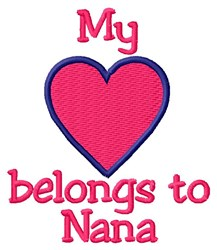 Nana Heart embroidery design