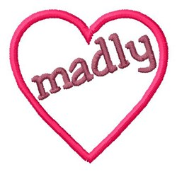 Love Madly embroidery design