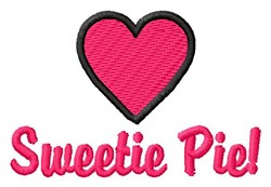 Sweetie Pie embroidery design