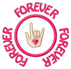 Love Forever embroidery design