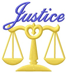 Justice embroidery design
