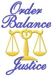 Balance Justice embroidery design