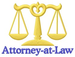 Attorney At Law embroidery design