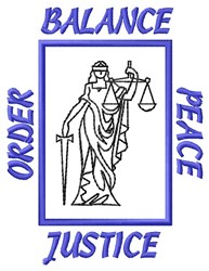 Justice Balance embroidery design