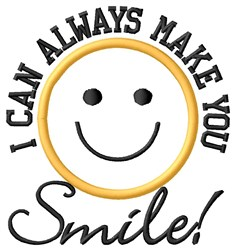 Make You Smile embroidery design