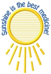 Sunshine Medicine embroidery design