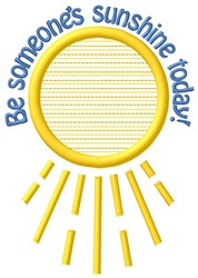 Sunshine Today embroidery design