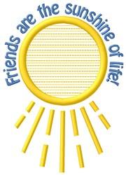 Sunshine Of Life embroidery design