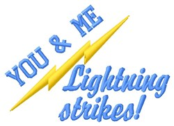 Lightning Strikes embroidery design