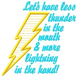Less Thunder embroidery design