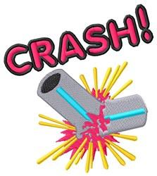 Crash embroidery design